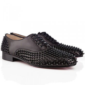 Replica Christian Louboutin Freddy Loafers Black Cheap Fake Shoes