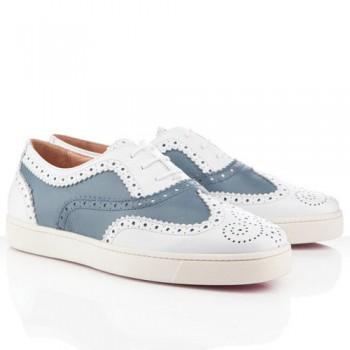 Replica Christian Louboutin Golfito Loafers Blue Cheap Fake Shoes