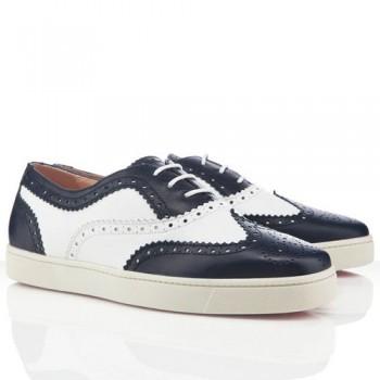Replica Christian Louboutin Golfito Loafers Navy Cheap Fake Shoes
