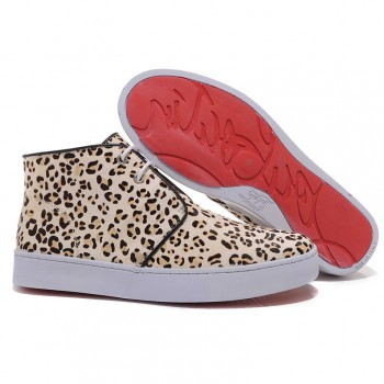 Replica Christian Louboutin Leopard printed Sneakers Leopard Cheap Fake Shoes