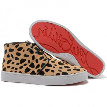 Replica Christian Louboutin Pony Leopard Sneakers Leopard Cheap Fake Shoes