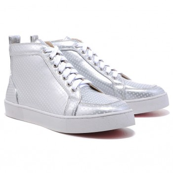 Replica Christian Louboutin Rantus Orlato Sneakers Silver Cheap Fake Shoes