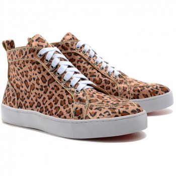 Replica Christian Louboutin Rantus Orlato Sneakers Leopard Cheap Fake Shoes