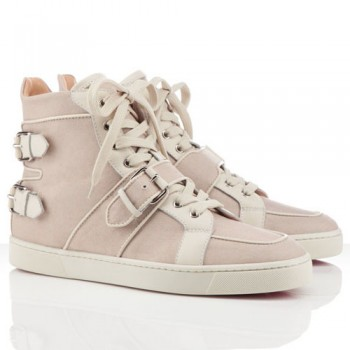 Replica Christian Louboutin Mickael Sneakers Taupe Cheap Fake Shoes