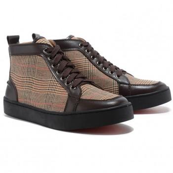 Replica Christian Louboutin Rantulow Sneakers Brown Cheap Fake Shoes