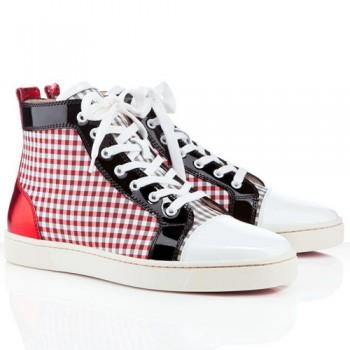 Replica Christian Louboutin Louis Sneakers Red Cheap Fake Shoes