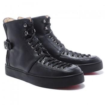 Replica Christian Louboutin Alfie Sneakers Black Cheap Fake Shoes