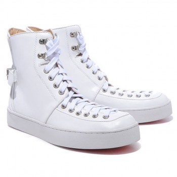 Replica Christian Louboutin Alfie Sneakers White Cheap Fake Shoes