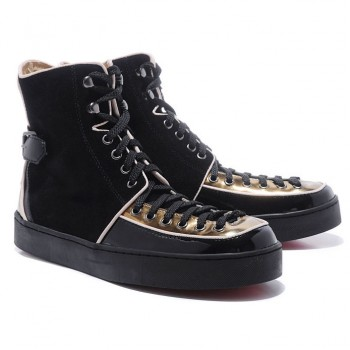 Replica Christian Louboutin Alfie Sneakers Black Cheap Fake Shoes