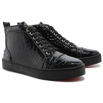 Replica Christian Louboutin Louis Sneakers Black Cheap Fake Shoes