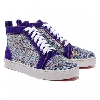 Replica Christian Louboutin Louis Strass Sneakers Parme Cheap Fake Shoes