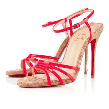Replica Christian Louboutin Belbride 100mm Sandals Rose Paris Cheap Fake Shoes