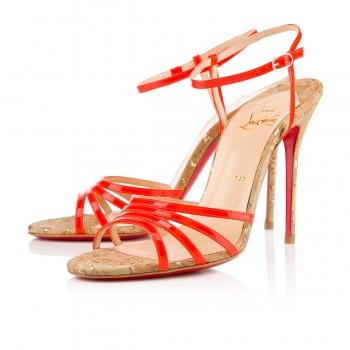 Replica Christian Louboutin Belbride 100mm Sandals Flame Cheap Fake Shoes
