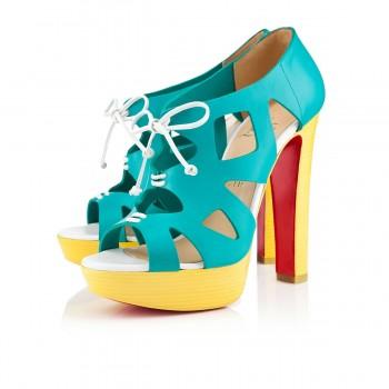 Replica Christian Louboutin Fossile 140mm Sandals Caraibes/Canari Cheap Fake Shoes