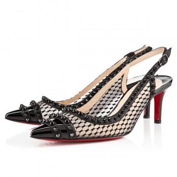 Replica Christian Louboutin Manovra 80mm Sandals Black Cheap Fake Shoes