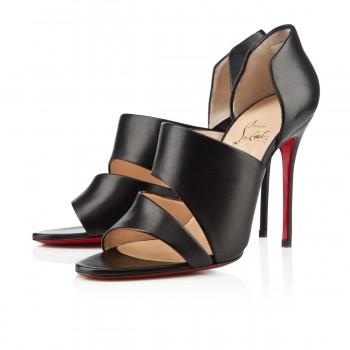 Replica Christian Louboutin Martissimo 100mm Sandals Black Cheap Fake Shoes