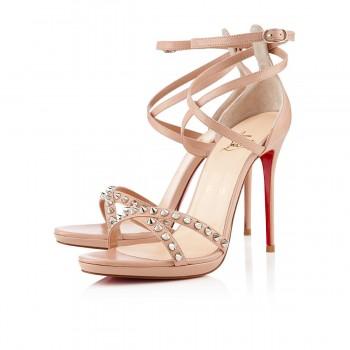 Replica Christian Louboutin Monocronana 120mm Sandals Nude Cheap Fake Shoes