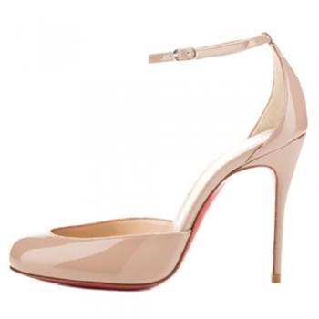 Replica Christian Louboutin Tres Decollete 100mm Pumps Nude Cheap Fake Shoes