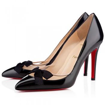 Replica Christian Louboutin Love Me 100mm Pumps Black Cheap Fake Shoes