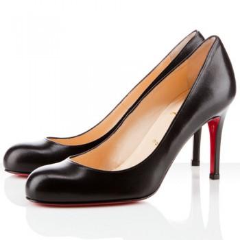 Replica Christian Louboutin Simple 80mm Pumps Black Cheap Fake Shoes