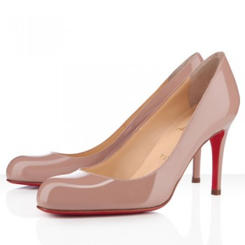 Replica Christian Louboutin Simple 100mm Pumps Nude Cheap Fake Shoes