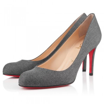 Replica Christian Louboutin Simple 100mm Pumps Grey Cheap Fake Shoes