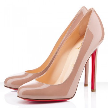 Replica Christian Louboutin Lady Lynch 120mm Pumps Nude Cheap Fake Shoes