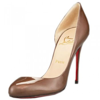 Replica Christian Louboutin Helmour 100mm Pumps Taupe Cheap Fake Shoes
