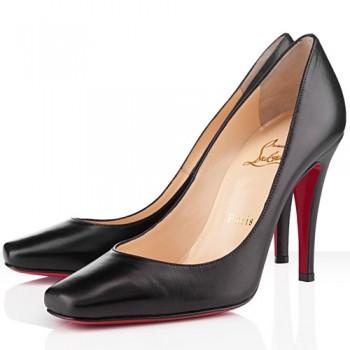 Replica Christian Louboutin Particule 100mm Pumps Black Cheap Fake Shoes