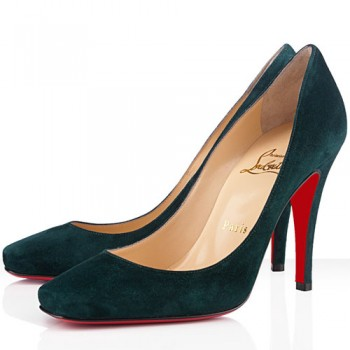 Replica Christian Louboutin Particule 100mm Pumps Green Cheap Fake Shoes