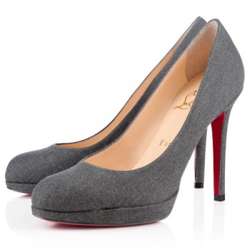 Replica Christian Louboutin New Simple 120mm Pumps Grey Cheap Fake Shoes