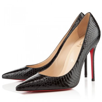Replica Christian Louboutin Decollete 554 100mm Pumps Black Cheap Fake Shoes