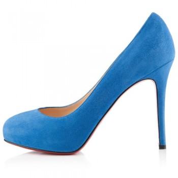 Replica Christian Louboutin New Declic 120mm Pumps Blue Cheap Fake Shoes