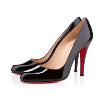 Replica Christian Louboutin Decollete 868 100mm Pumps Black Cheap Fake Shoes