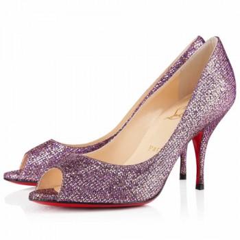 Replica Christian Louboutin Yo Yo 80mm Peep Toe Pumps Pivoine Cheap Fake Shoes