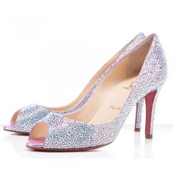 Replica Christian Louboutin You You 80mm Peep Toe Pumps Aurora Boreale Cheap Fake Shoes