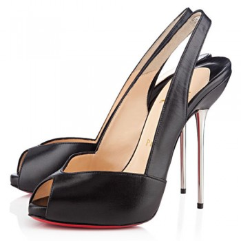 Replica Christian Louboutin Boulimina 120mm Slingbacks Black Cheap Fake Shoes