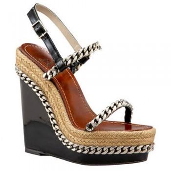 Replica Christian Louboutin Macarena 120mm Wedges Brown Cheap Fake Shoes