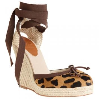 Replica Christian Louboutin Carino Plato 120mm Wedges Leopard Cheap Fake Shoes