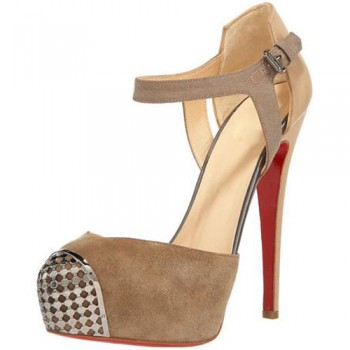 Replica Christian Louboutin Boulima Exclusive D'orsay 120mm Sandals Taupe Cheap Fake Shoes