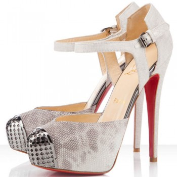 Replica Christian Louboutin Boulima Exclusive D'orsay 120mm Sandals Stone Cheap Fake Shoes