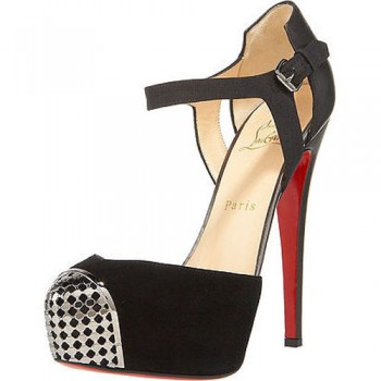 Replica Christian Louboutin Boulima Exclusive D'orsay 120mm Sandals Black Cheap Fake Shoes