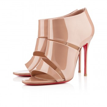 Replica Christian Louboutin Cachottiere 100mm Sandals Nude Cheap Fake Shoes