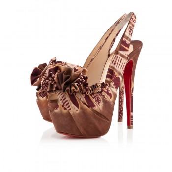 Replica Christian Louboutin High Boubou 160mm Platforms Fauve Cheap Fake Shoes