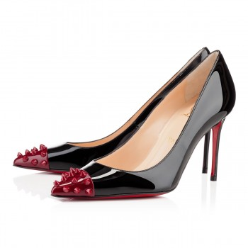 Replica Christian Louboutin Geo 80mm Pumps Black Cheap Fake Shoes