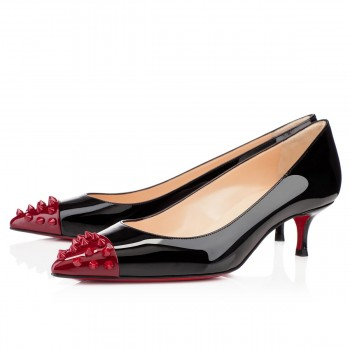 Replica Christian Louboutin Geo 40mm Pumps Black Cheap Fake Shoes