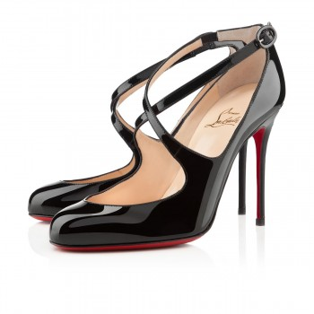 Replica Christian Louboutin Viva Dita 100mm Mary Jane Pumps Black Cheap Fake Shoes