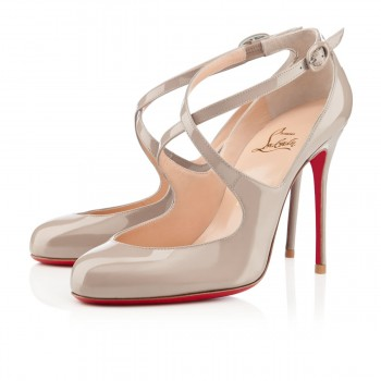Replica Christian Louboutin Viva Dita 100mm Mary Jane Pumps Stone Cheap Fake Shoes