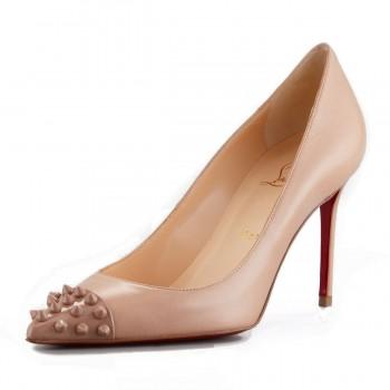 Replica Christian Louboutin Geo 80mm Pumps Nude Cheap Fake Shoes
