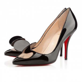 Replica Christian Louboutin Madame mouse 100mm Pumps Black Cheap Fake Shoes